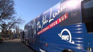All aboard the John Lennon Educational TourBus
