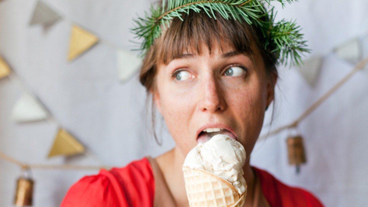 Christmas ice cream flavors include eggnog, figgy pudding