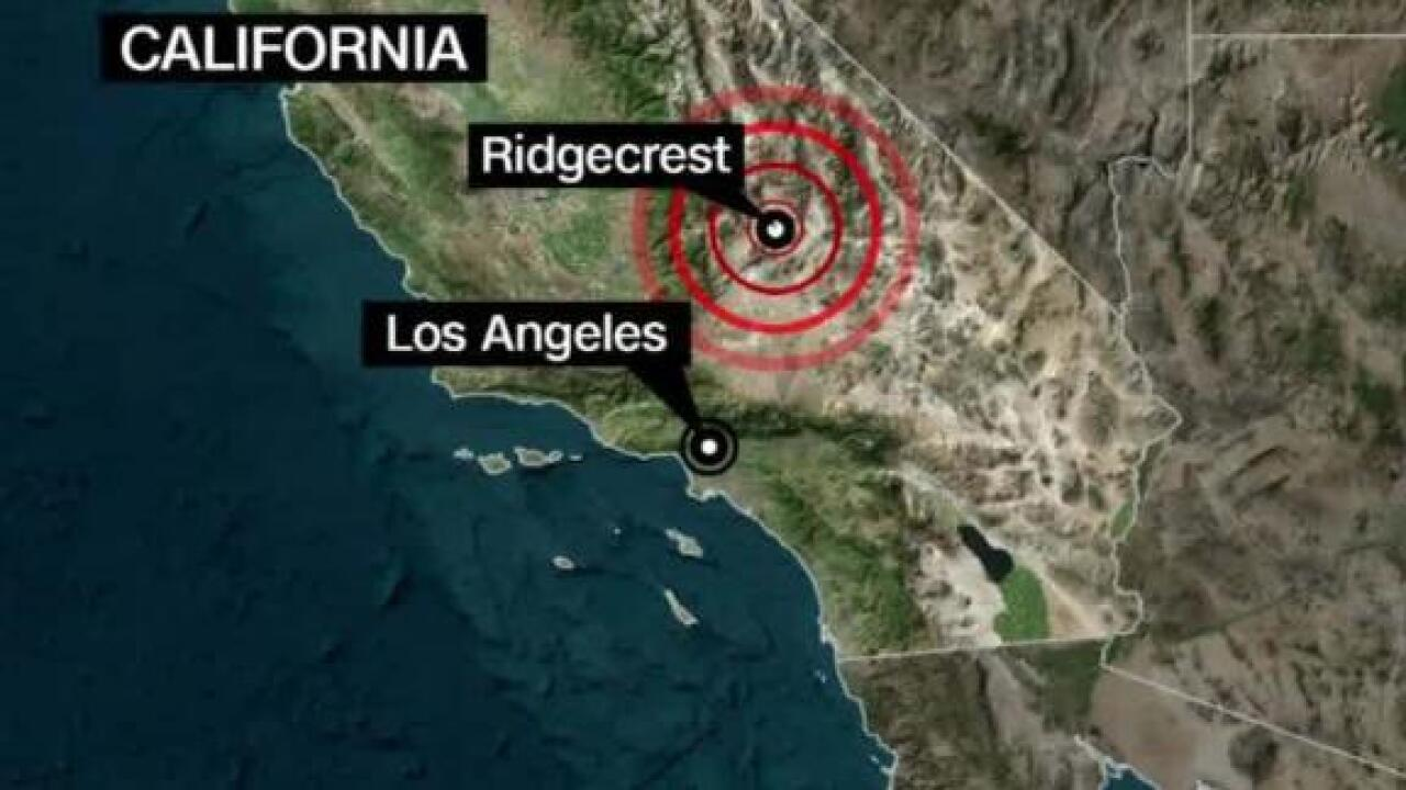 Fires break out after another powerful earthquake hits near Ridgecrest in Southern California
