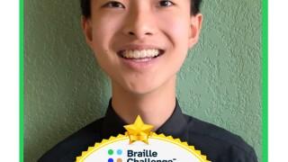 Andy Shen, 2021 Braille Challenge finalist