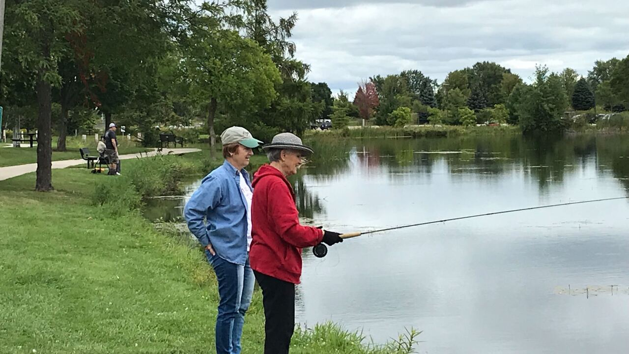 Wisconsin Parkinson Association fly fishing clinic Sept 4 2019