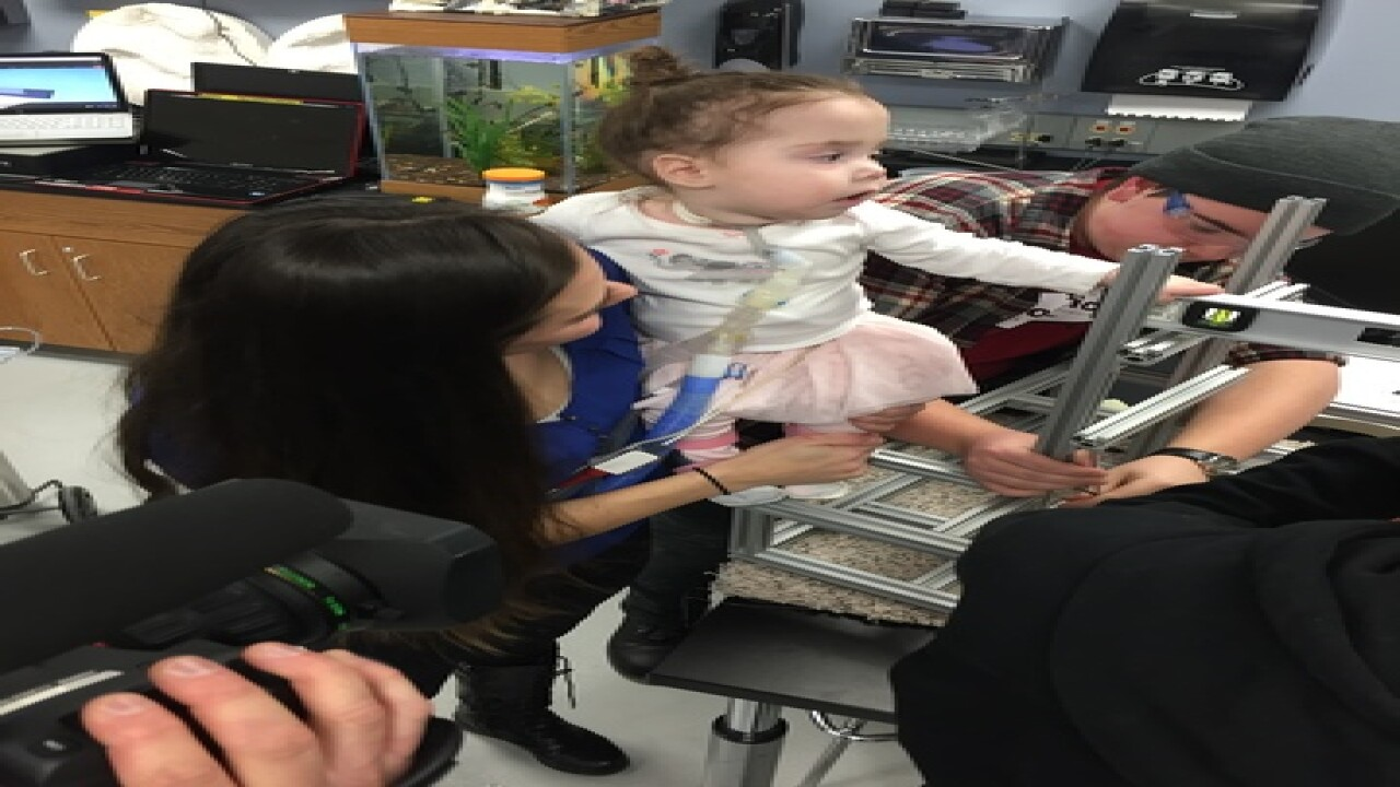 Local students help girl defy medical odds