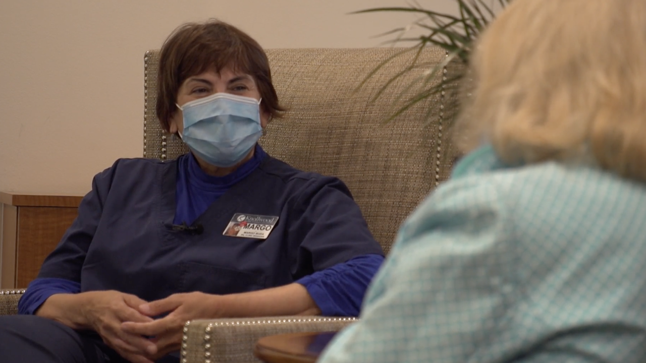 During the early days of the pandemic, to protect residents and staff, Margo Buda – a nurse clinic manager – took it upon herself to set up a COVID testing lab right inside the senior living community where she works.