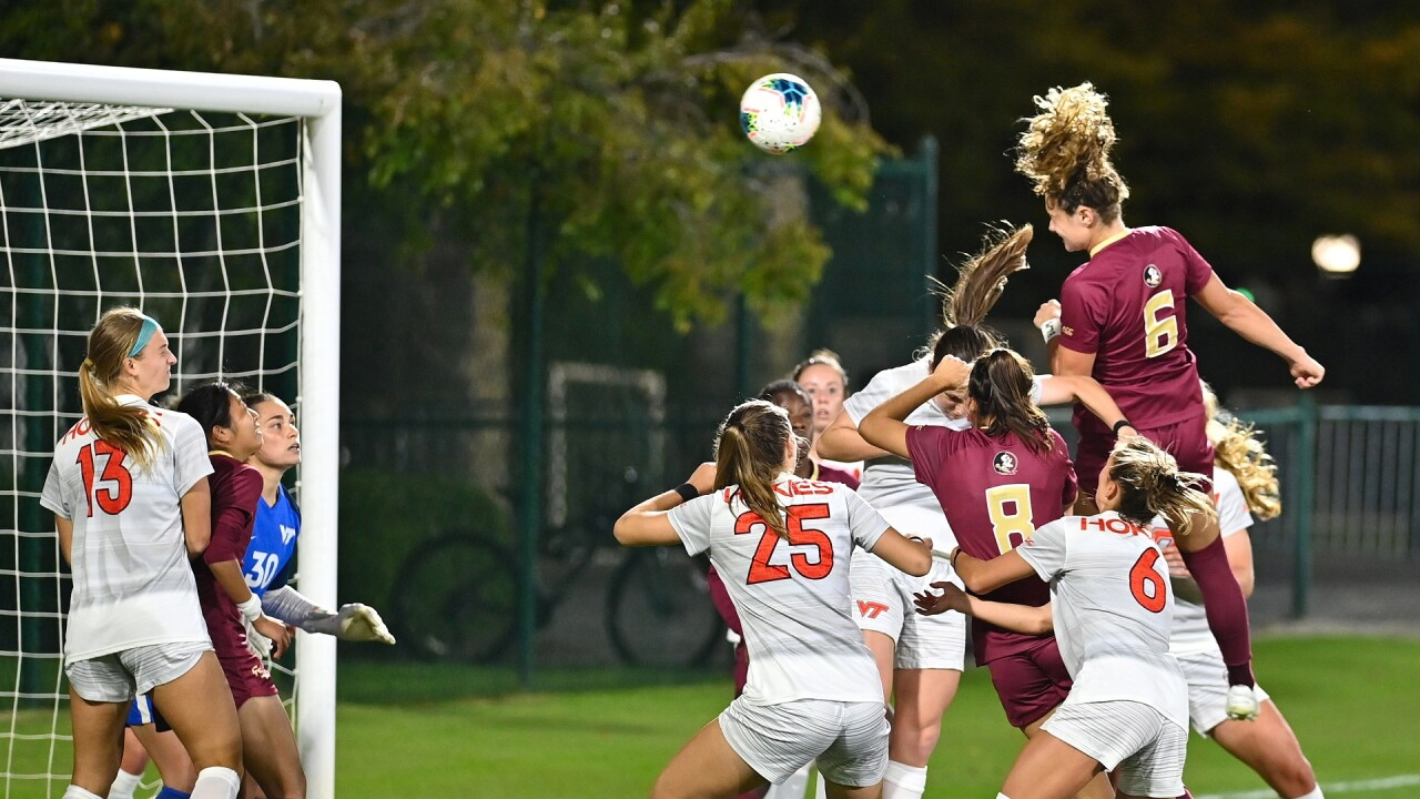 Soccer Remains Unbeaten Against Virginia Tech with 4-0 Win