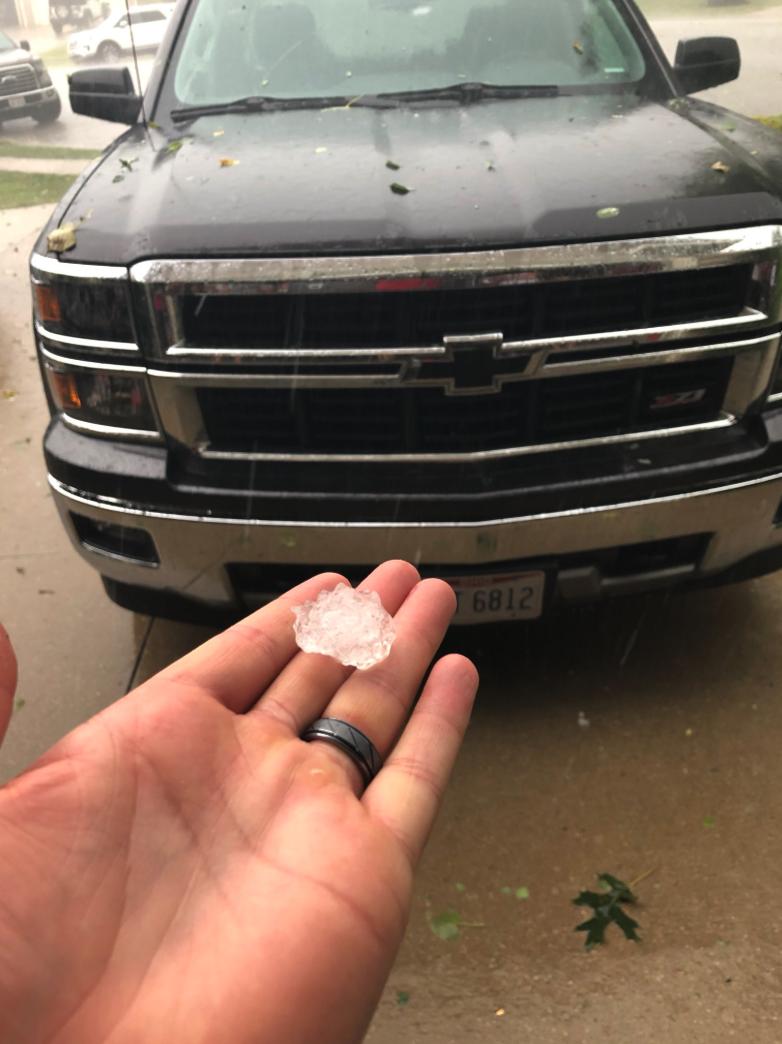 Golf ball-sized hail in Brimfield