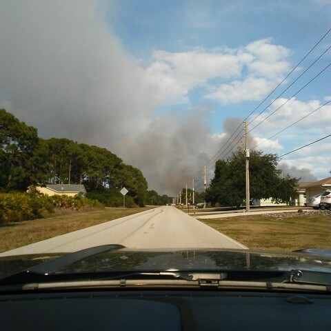 Wildfires burn in Charlotte County Photos