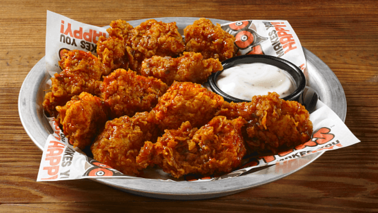 Hooters boneless wings