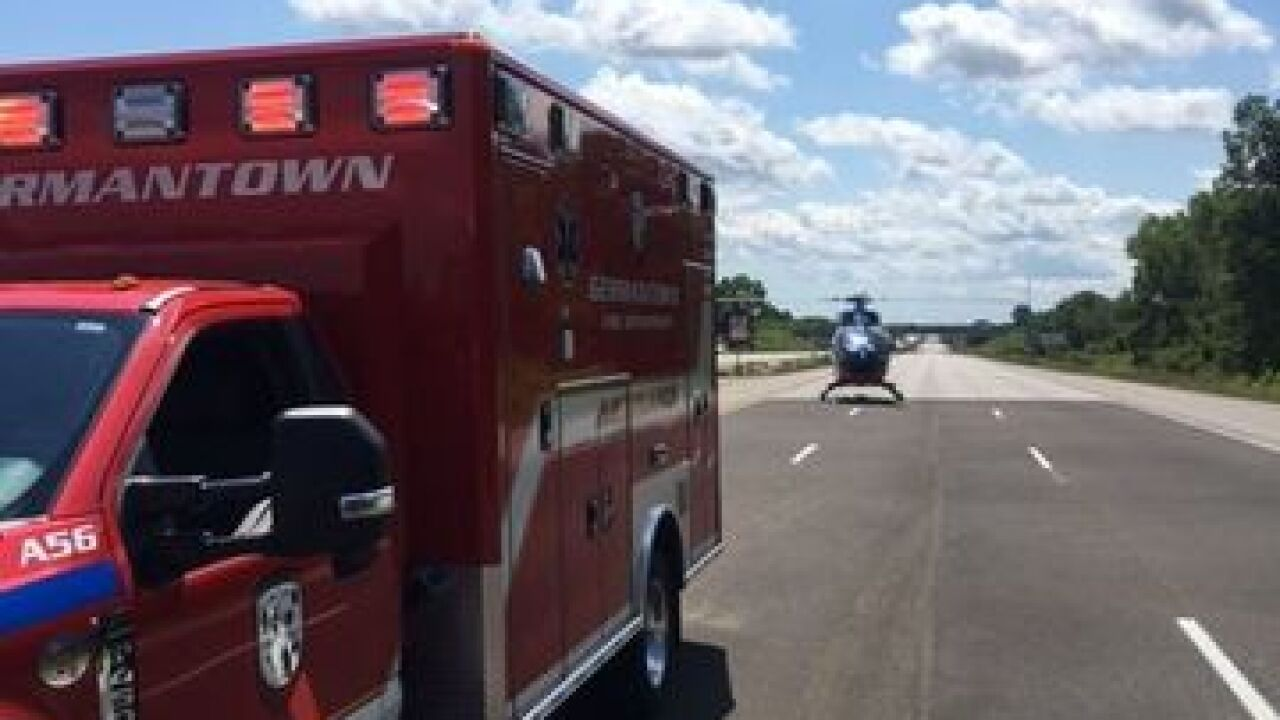 Flight-for-life called to crash on I-41 in Washington County