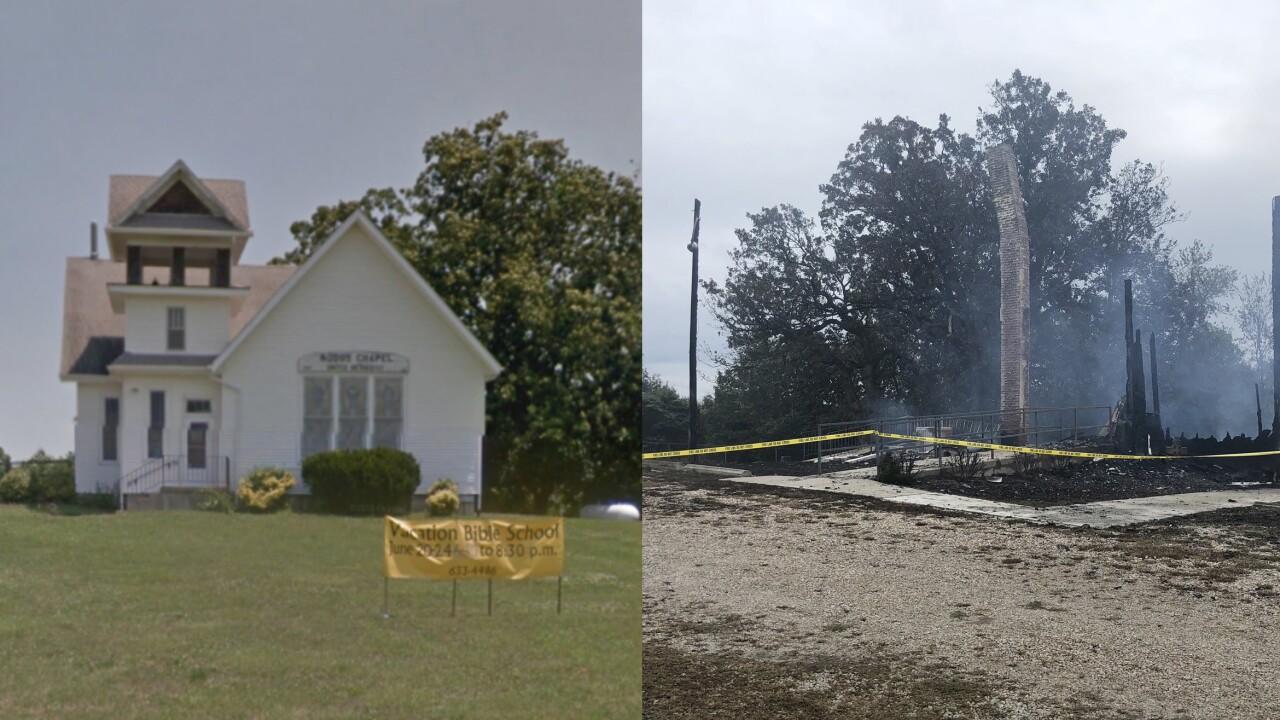 Odessa church destroyed in fire