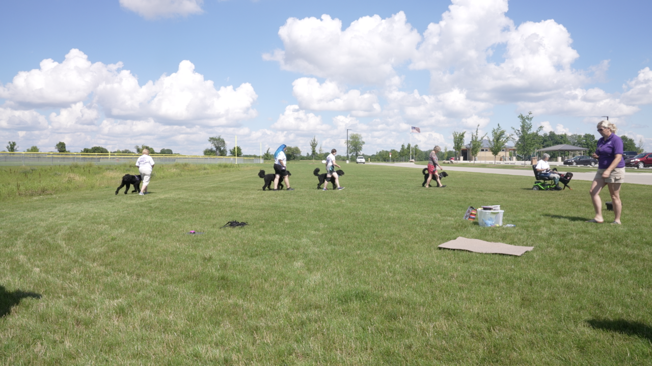 Training class at Mount Hope Park