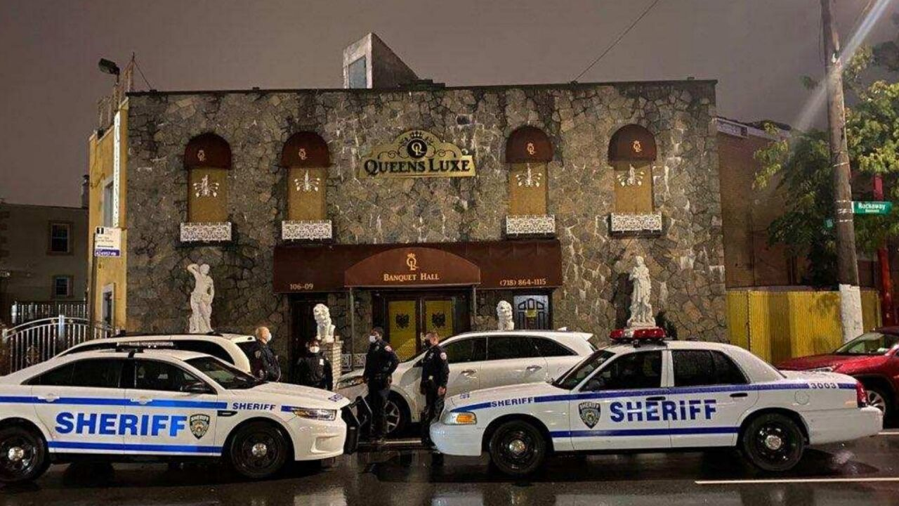 New York City sheriffs shut down party at Queens catering hall with over 200 people
