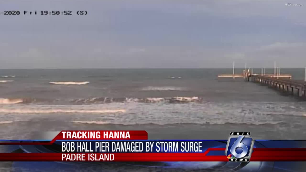 Hanna's surge collapses sizable part of Bob Hall Pier
