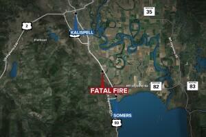 Fatal Kalispell Arson Fire Map