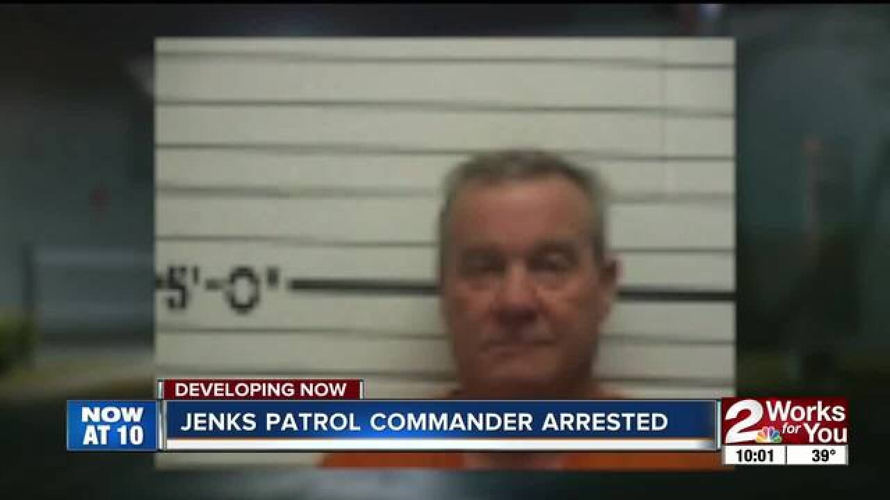 Jenks Patrol Commander arrested on warrant