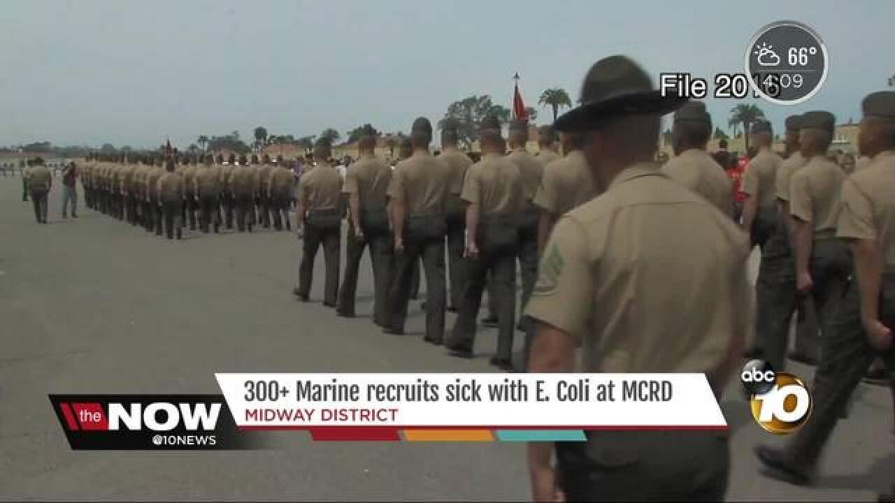 300+ Marine recruits sickened with E.coli