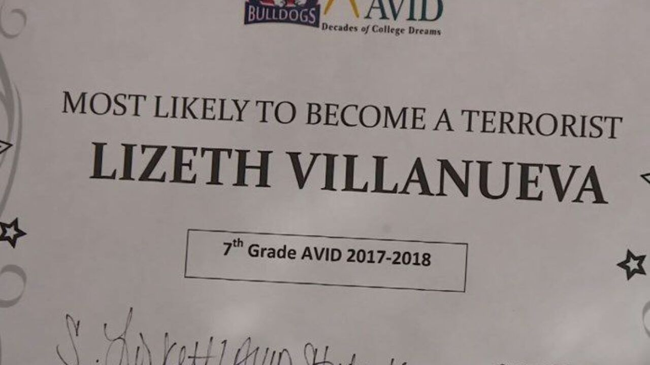 13-year-old given mock 'most likely to become a terrorist' award