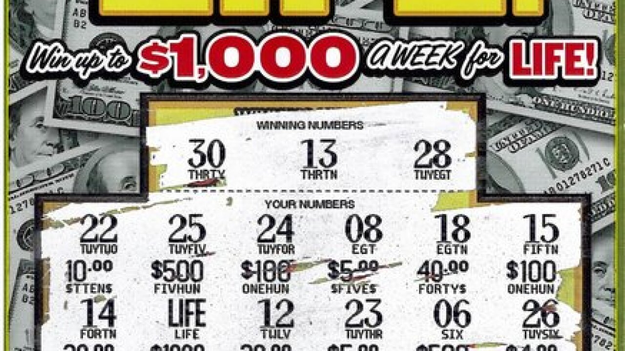 Wayne Co. man wins $1K a week for life playing Michigan Lottery instant game