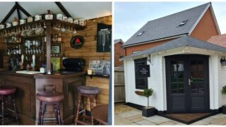 Couple Built A Tiny British Pub In Their Backyard