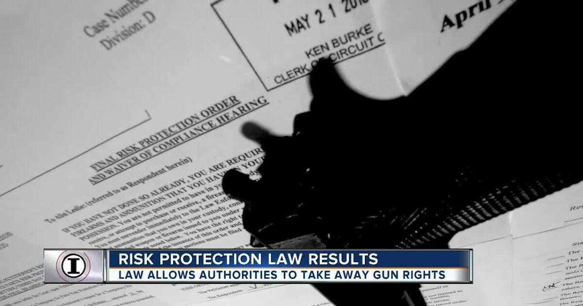 More than 450 people in Florida ordered to surrender guns