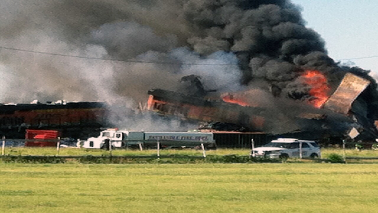 2 trains collide in Texas, cause massive fire