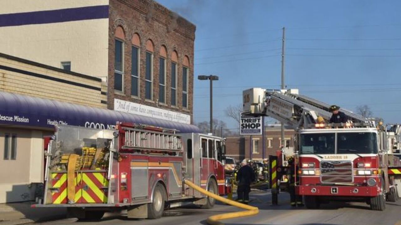 Dozens of homeless people displaced after fire damages Indy shelter