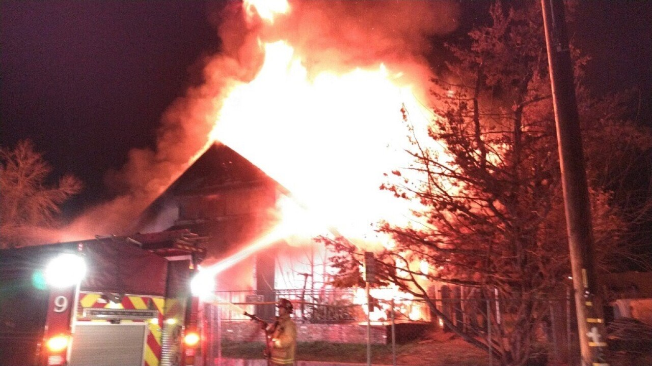 Abandoned Home Fire