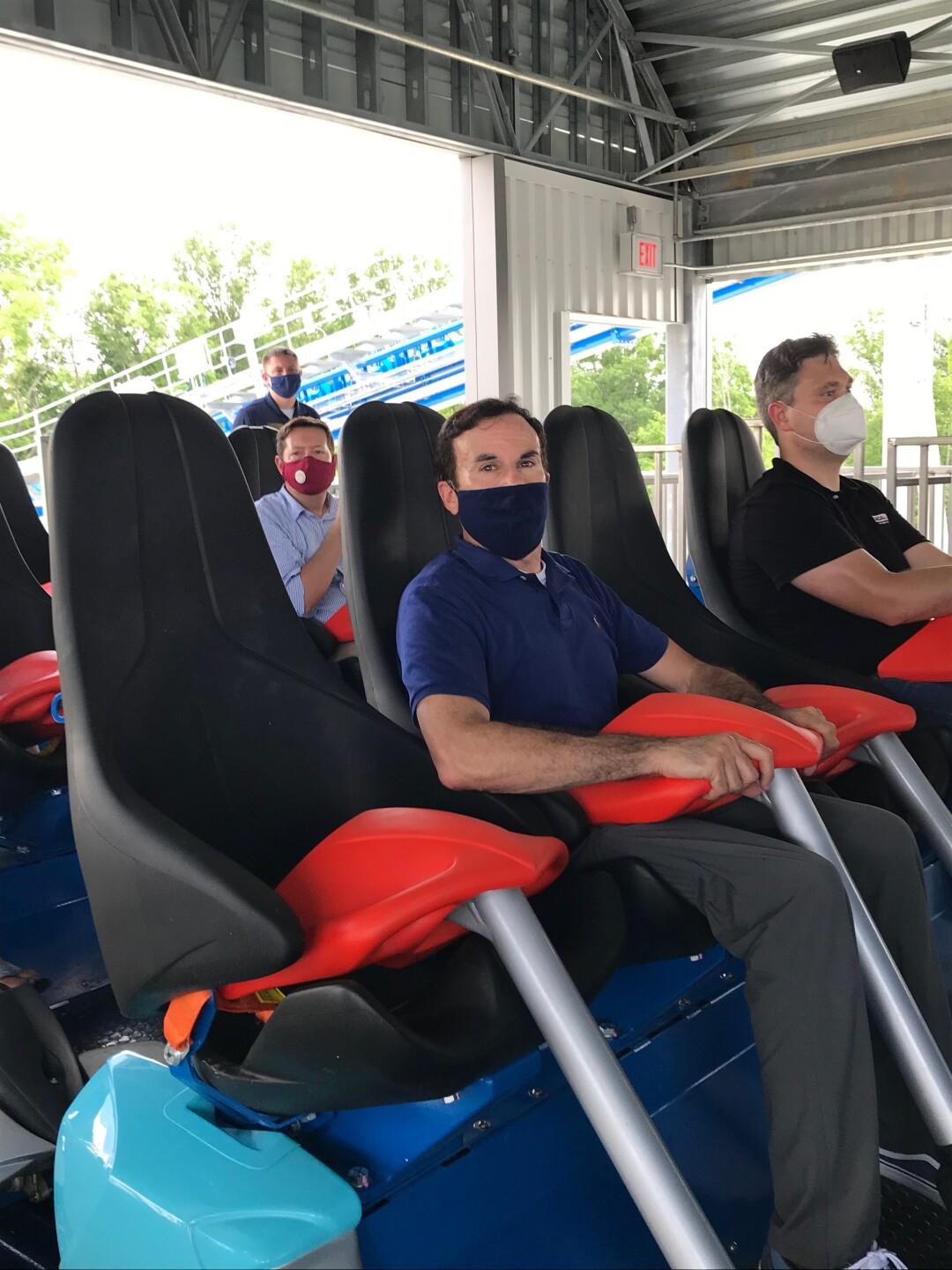 John Matarese takes his first ride on Orion