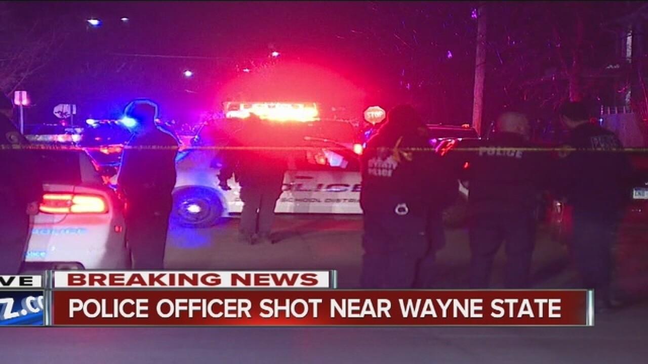 Detroit police officer shot in head
