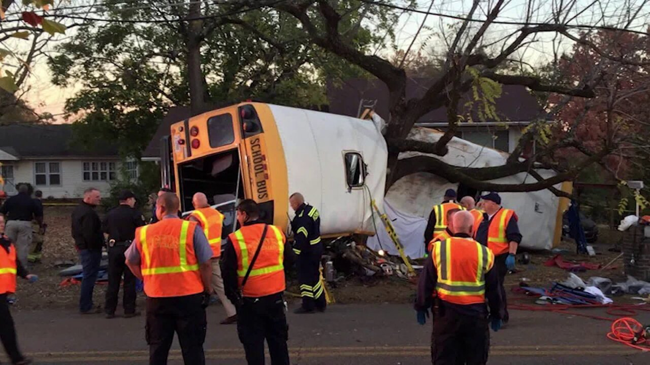 School bus driver arrested in crash that killed students