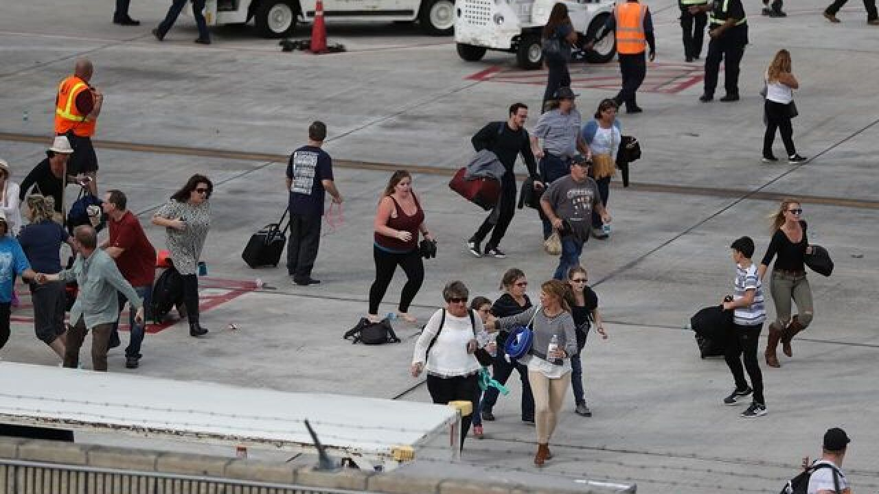 Video shows moment Fort Lauderdale airport gunman opened fire