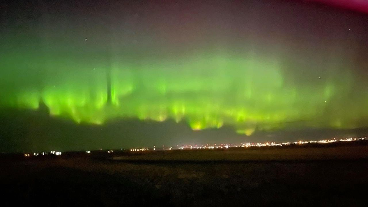 Aurora Borealis seen from Cut Bank on October 12, 2021