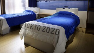 Plastic podiums, recycled medals, cardboard beds part of Tokyo Games' sustainability plan