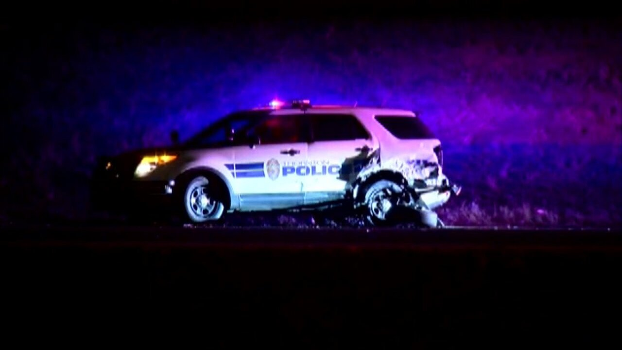 Thornton police officer injured during traffic stop on the ramp from NB I-25 TO 104th Avenue