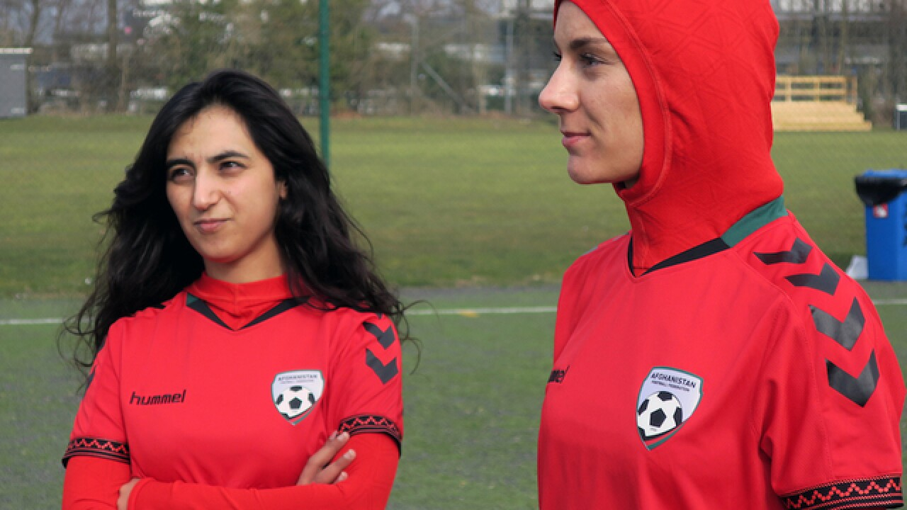Afghan women's soccer gets unique new jerseys