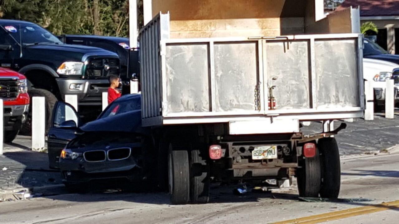 3-vehicle crash shuts down Fowler Street
