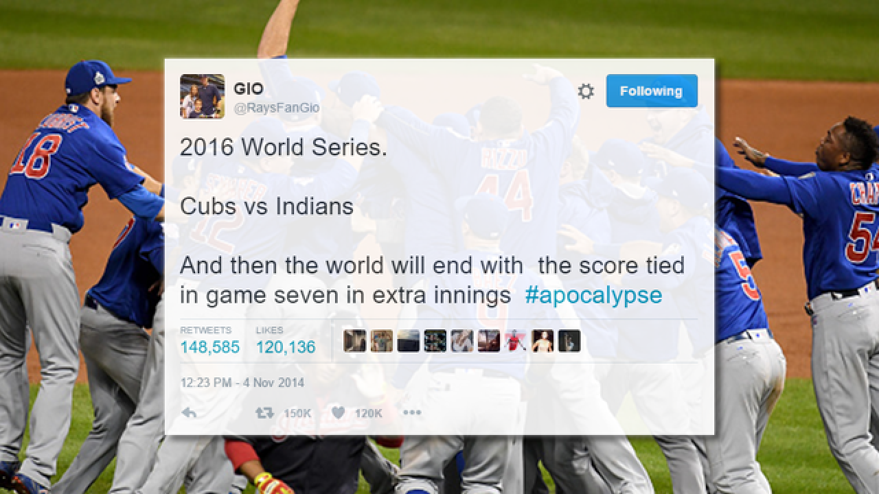 tampa bay rays fan predicted world series teams extra innings in tweet from 2014 tampa bay rays fan predicted world