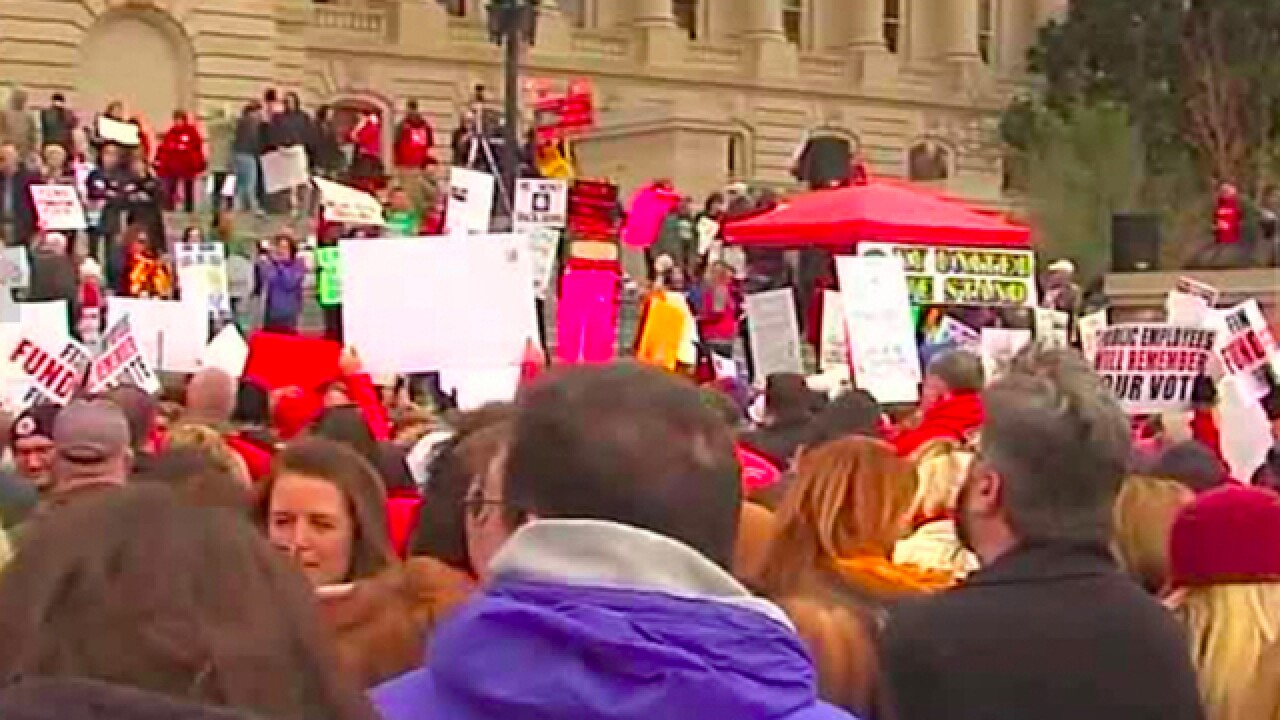Teachers in Kentucky and Oklahoma plan to walk out in what could be huge rallies