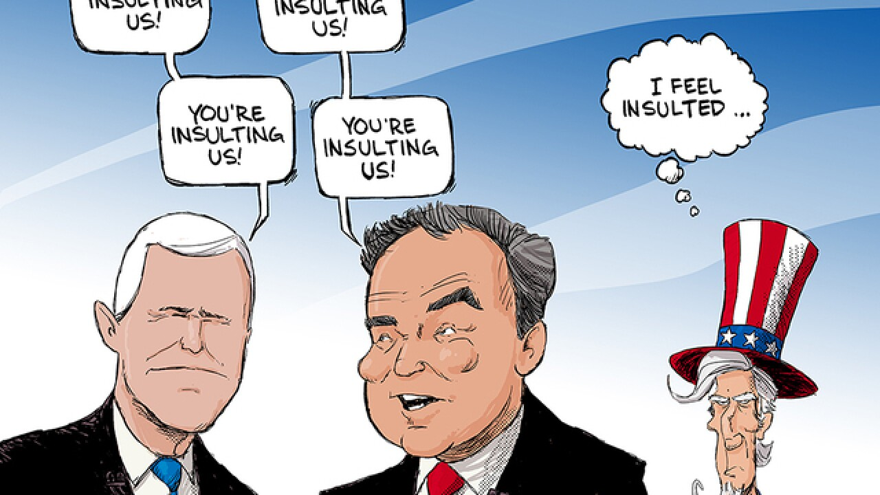 EDITORIAL CARTOON: Insulting