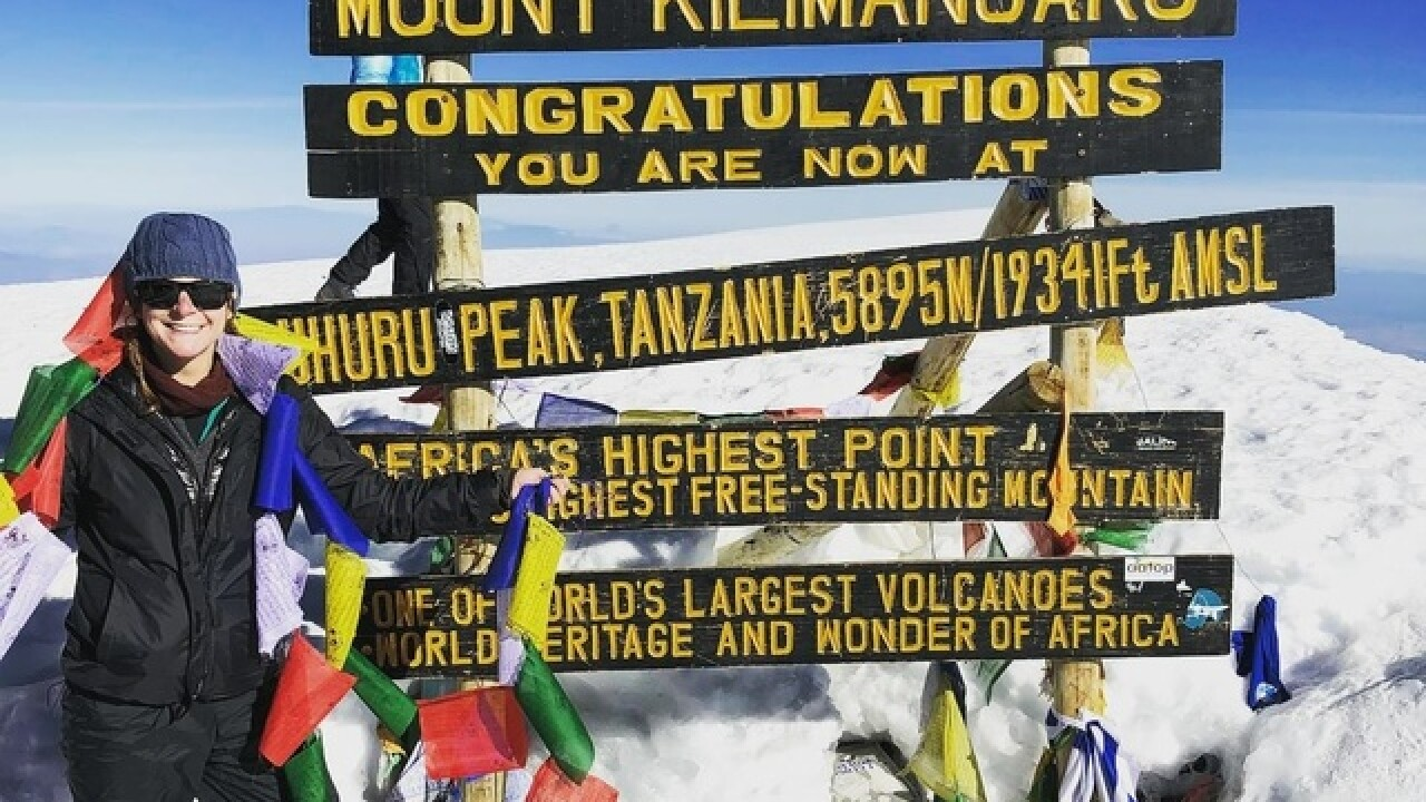 Woman hikes Mt. Kilimanjaro to save lives