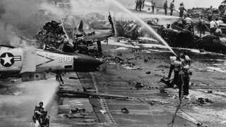 USS Forrestal fire