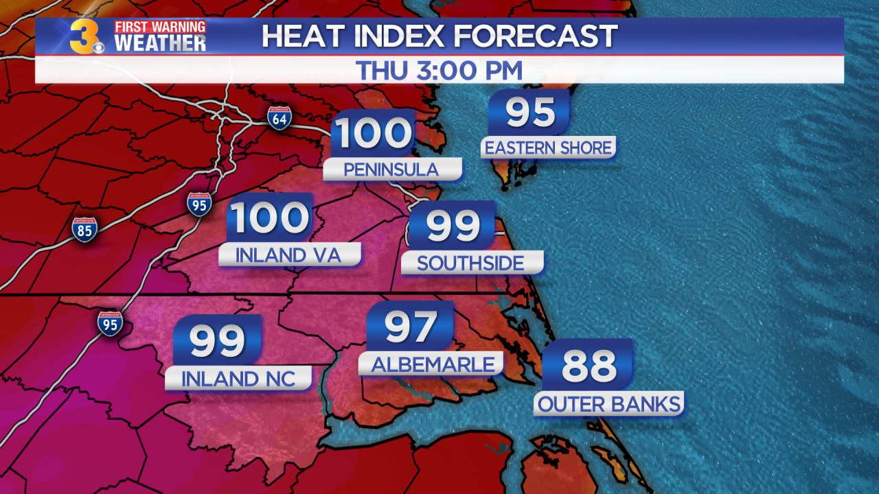 First Warning Forecast: Summer returns, heat index values in the triple digits