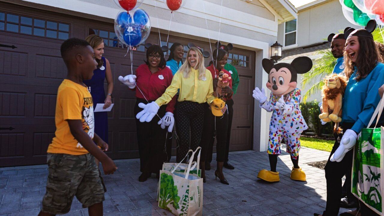Boy who spent Disney vacation savings to feed Dorian evacuees surprised with Disney World trip