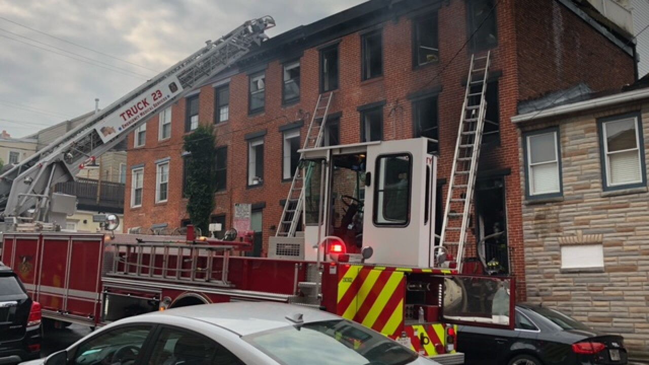 Fire damages six rowhomes in Federal Hill Thursday