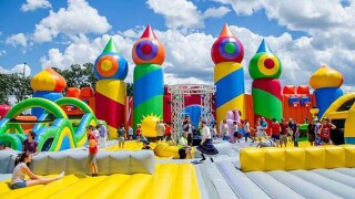 The world's biggest bounce house is in Colorado Springs for the weekend