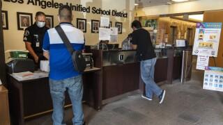 Virus Outbreak Los Angeles Schools