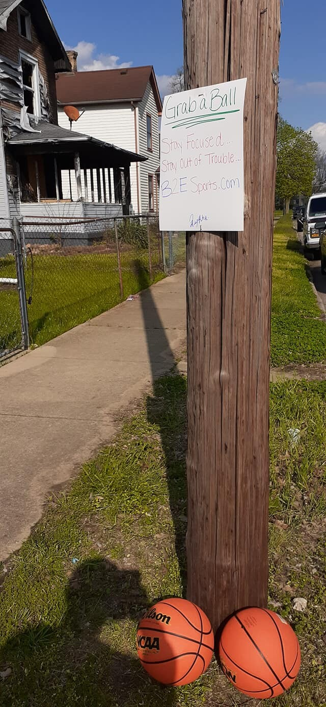 You can find positive signs and basketballs around this Middletown neighborhood