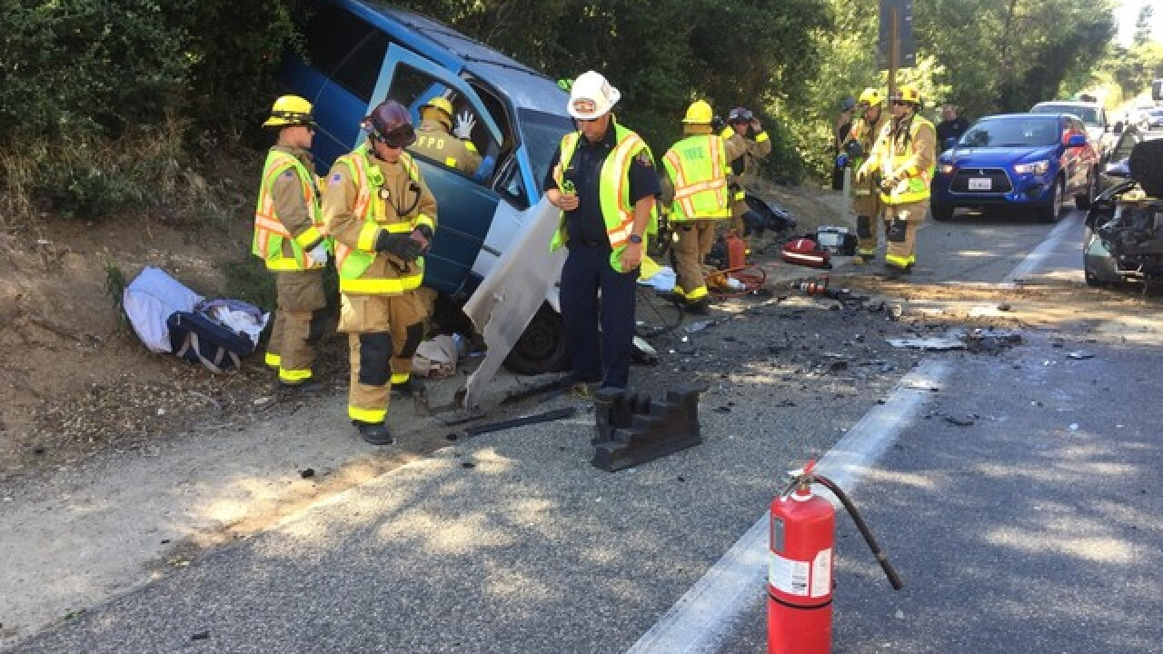 1 dead after wrong-way crash in Fallbrook