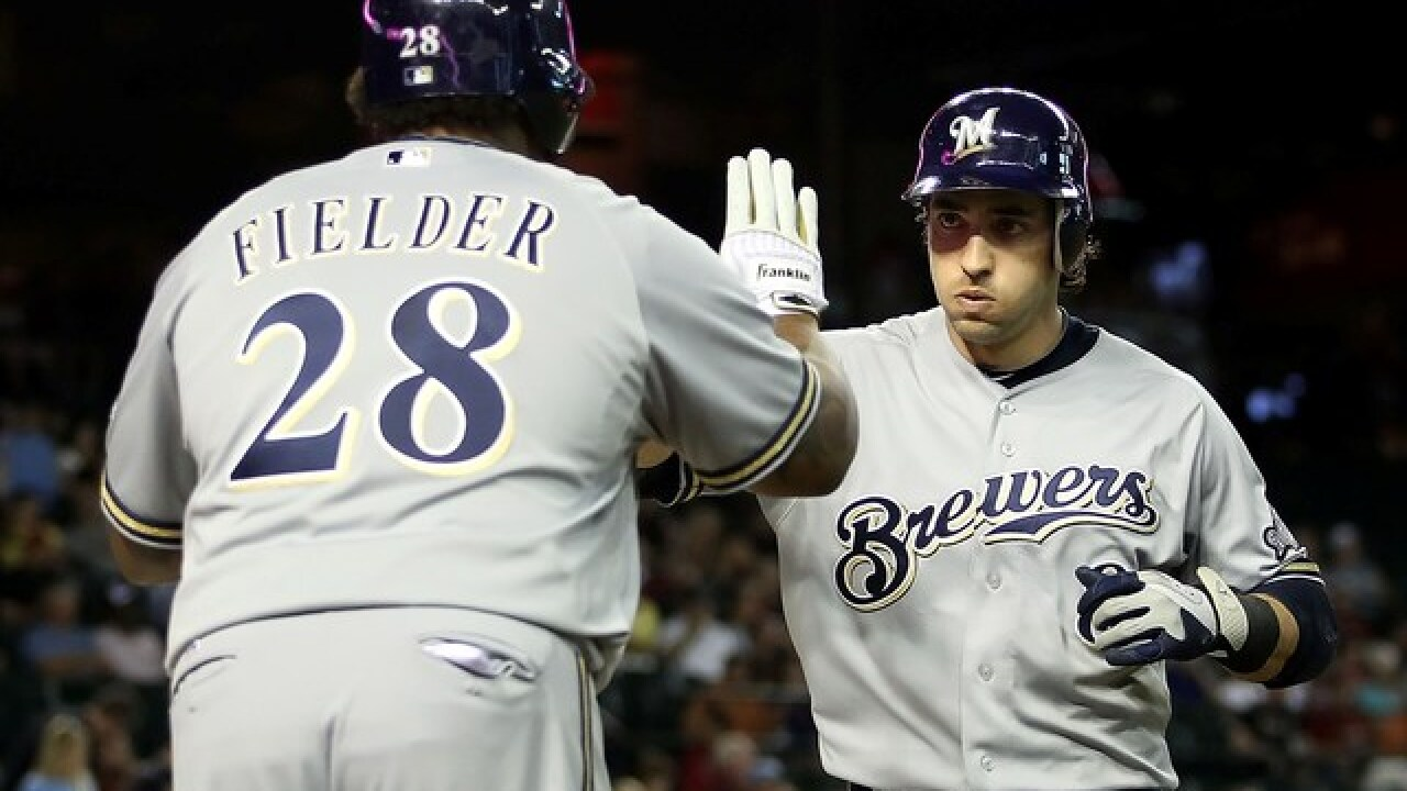 Ryan Braun and Prince Fielder recreate iconic celebration one last time