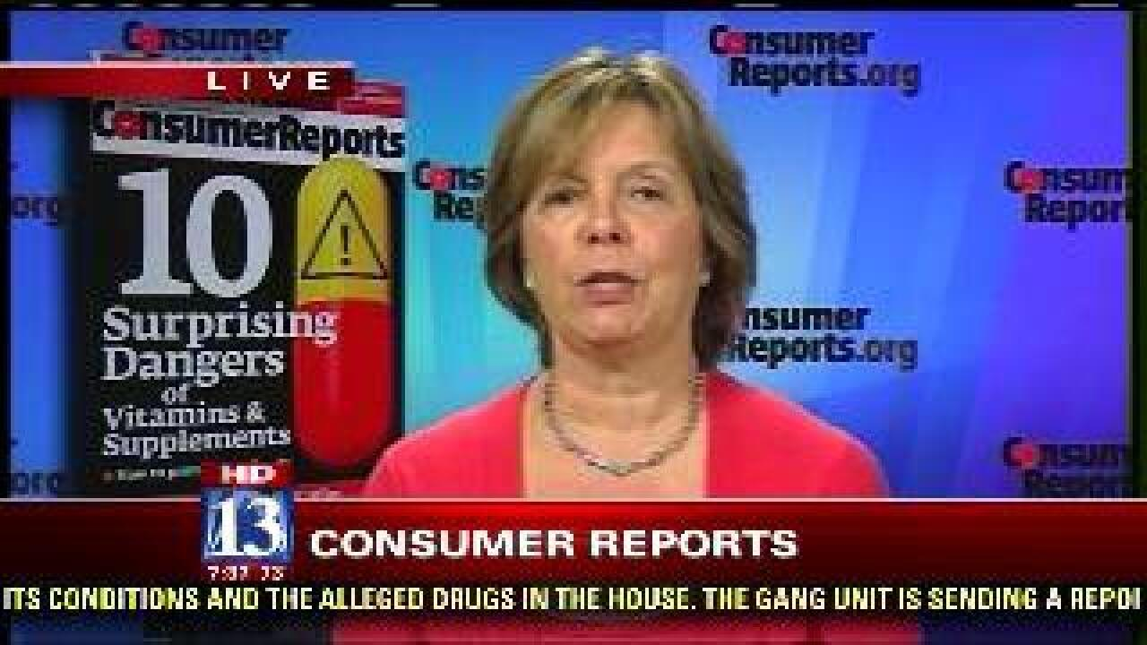 Consumer Reports: Dangers associated with supplements