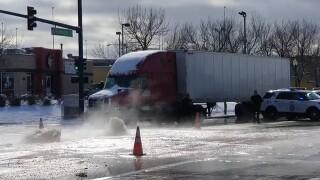 Water main break closes intersection at 47th Ave. and N. Washington